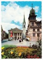 Dornbirn - Marktplatz Mit Der Stadtpfarrkirche Und Dem Lugerhaus - Dornbirn