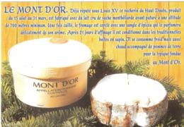 CPSM DU FROMAGE  LE MONT D'OR APPELLATION D'ORIGINE CONTROLEE AU LAIT CRU - Craft