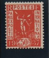 VARIETE  -  1936 -  Exposition  Arts & Techniques  N° 325 A **,  Faux  De  Paris . - Neufs