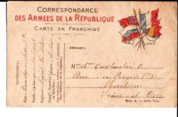 Soldat Louis Cauchy 25ème Regt 13 ème Cie Chasseurs à Pied Nogent Le Rotrou à M. Et Mme E. Constantin à Montesson. - Guerre 1914-18