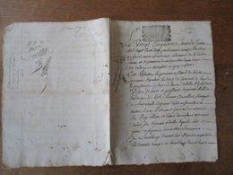 25 JUIN 1710 PARDEVANT MAURICE DE HERBECOUVZ LIEUTENANT ORDINAIRE DE LA SEIGNERIE DE ANSAUVILLERS DROITS MARQUIS DE MAV - Manuscripts