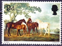 Großbritannien Great Britain Grande-Bretagne - Stuten Und Fohlen Von George Stubbs (MiNr: 467) 1967 - Postfrisch MNH - 1952-.... (Elizabeth II)