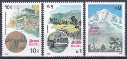 Nepal 1980 Wirtschaft Economy Tourismus Tourism Quellen Springs Godavari Berge Mountains Dhaulagiri, Mi. 401-3 ** - Nepal
