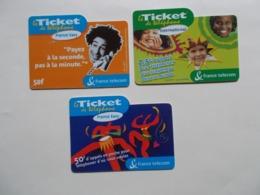 Lot 3 Tickets FRANCE TELECOM (TC 5/6) - France