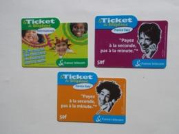 Lot 3 Tickets FRANCE TELECOM (TC 7/8) - France