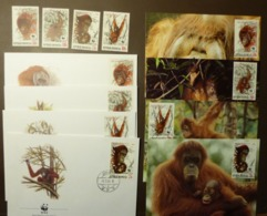 Indonesia 1989 - N°Yv. 1174 à 1177 - Orang Outan  WWF  Maxi Card FDC MNH ** #cover 4945 - W.W.F.