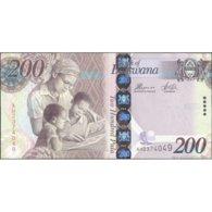 BOTSWANA 34d - 200 Pula 2014 UNC Prefix AH - Botswana