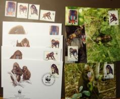 Guinea Ecuatorial 1991 - N°Yv. 271 à 274  Mandrill  WWF  Maxi Card FDC MNH ** #cover 4946 - W.W.F.