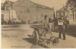 CP - MARCHAND DE JOURNAUX - ATTELAGE DE CHIEN - REPRODUCTION - 693 - CECODI - C'ÉTAIT LA FRANCE - Vendedores Ambulantes