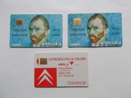 Lot 3 Télécartes FRANCE (TC 43/44) - Sin Clasificación