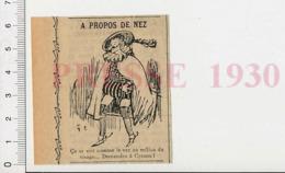 Presse 1930 Humour Cyrano De Bergerac Grand Nez Théatre 51D26-B - Vieux Papiers