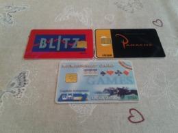 Belgium - 3 Casino Chipcards - GSM-Kaarten, Herlaadbaar & Voorafbetaald