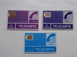 Lot 3 Télécartes FRANCE Pyjamas (TC 47/48) - Sin Clasificación
