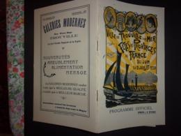 VILLE DE TROUVILLE SUR MER FETES DES PROVINCES DE FRANCE 1928 PROGRAMME OFFICIEL  CALVADOS - Normandie