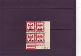 N° 758 - 60c COMTE DE NICE - A De A+B - 9° Tirage Du 9.10.47 Au 10.10.47 - 9.10.1947 - - Coins Datés
