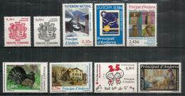 Année Complète  2007.  9  T-p ** (Hautes Faciales Grand Tetras & Patrimoine Culturel)   Côte 32,50 Euro - Spaans-Andorra