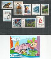 Année Complète 2008.  9 Timbres Neufs + BF Expo Universelle Zaragoza 2008 / Comapedrosa ** Côte 35,00 Euro - Ongebruikt