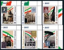 VATIKAN Mi. Nr. 1690-1695 150 Jahre Einheit Italiens - MNH - Vatikanstadt