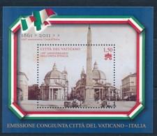 VATIKAN Mi. Nr. Block 35 150 Jahre Einheit Italiens - MNH - Vatikanstadt