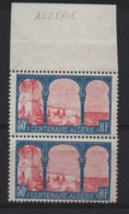 VARIETE  -  1930  -  Centenaire  De  L'Algérie  N° 263 E **,  G  Tronqué  ( ALCERIE ),  Tenant  à  Normal . - Variétés Et Curiosités