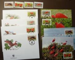 1990 Trinidad & Tobago WWF Roter Sichler Mi. 596-599 MNH Vögel  Birds  Oiseaux Maxi Card FDC MNH ** #cover 4950 - W.W.F.