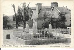 88 - Vosges - Raon Bois - Le Monument Aux Morts - Autres Communes