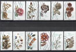 France - Adhésifs N° 1410 à 1421 Oblitérés - Série Complète - Fleurs Et Métiers D'Art - Francia