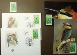 1988 Österreich/Austria WWF Bienenfresser/European Bee-eater  Maxi Card FDC MNH ** #cover 4952 - W.W.F.