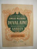 Catalogue Jumelles Militaires Duval Ainé Annecy - Optique