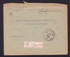 Belgique1930UsageEnveloppe Liège (Luik) Paris Recommandée2,00 €Pathé Cinéma RCA - Storia Postale