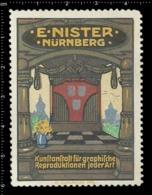Old Poster Stamp Cinderella Reklamemarke Erinnofili Vignette E.Nister Nürnberg Nuremberg. - Cinderellas