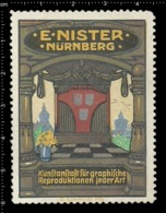 Old Poster Stamp Cinderella Reklamemarke Erinnofili Vignette E.Nister Nürnberg Nuremberg. - Erinnofilia