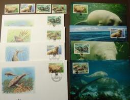 1988 Vanuatu WWF Dugong FAUNA MARINE LIFE DUGONGS Mi. 782-785  Maxi Card FDC MNH ** #cover 4955 - W.W.F.