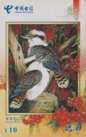 Télécarte Chine - ANIMAL - OISEAU - MARTIN PECHEUR KOOKABURRA KINGFISHER BIRD China Telecom Phonecard - EISVOGEL - 4945 - Autres