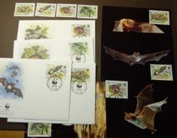 WWF 1989 Bulgarien Bulgaria Fledermäuse Bats  Maxi Card FDC MNH ** #cover 4956 - W.W.F.