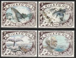 NIUAFO'OU (TONGA) - N°129/32  **(1990) Chasse à La Baleine - Tonga (1970-...)
