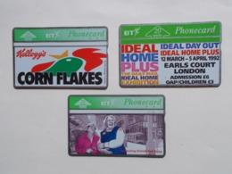 Lot 3 Télécartes Royaume Unis - Grande Bretagne  (TC 87/88) - Otros