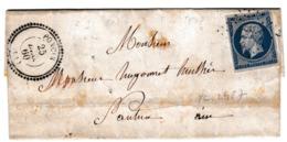 Lettre 1860 Poncin Ain Nantua Dupunat Avoué - 1853-1860 Napoleon III