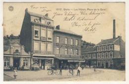 CPA HUY Statte Place De La Gare 1908 - Hoei