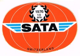 Sticker  - AVIATION - SATA Switzerland 1976-10ans   T11 - Adesivi