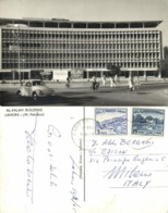 West Pakistan, LAHORE, Al-Falah Building, VW Beetle (1965) RPPC Postcard - Pakistán