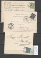 France- CP  Paris 23  Rue Erard - 3 Piéces Type Sage - - Marcophilie (Lettres)