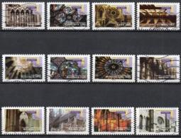 France - Adhésifs N° 552 à 563 Oblitérés - Série Complète - Architecture - Art Gothique - Francia