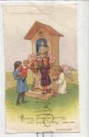 Ange Et Enfants Fleurissent Une Statue De La Vierge. Souvenir De Sœur Gérard-Marie Le 01/08/1939 - Anuncios