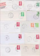 Lot Département 39 JURA : 15 Plis Divers Dont Guichet Annexe GA Agence Postale AP RAU ( TàD Manuel ) - Marcofilia (sobres)