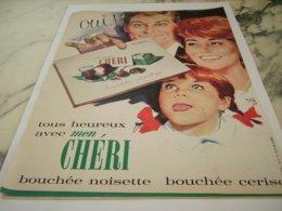 ANCIENNE  PUBLICITE CHOCOLAT MON CHERI  1961 - Posters