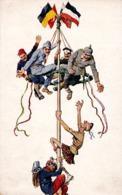 GERMAN & AUSTRIAN PROPAGANDA : CARICATURE Avec LES ALLIÉS / THE ALLIES - M. MUNK WIEN 1085 ~ 1915 - '916 (ad072) - War 1914-18