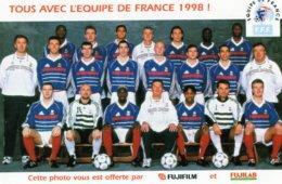 PHOTO OFFERTE PAR FUJIFILM & FUJILAB TOUS AVEC L'EQUIPE DE FRANCE CHAMPIONNE DU MONDE 1998 - Photographie