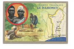 Chromo 14 X 9 Cm DAHOMEY Colonies Françaises Pub: Lion Noir TB 2 Scans - Chromo