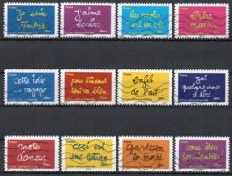 France - Adhésifs N° 609 à 620 Oblitérés - Série Complète - Sourires Par BEN - Illustrateur Benjamin Vautier - Frankrijk